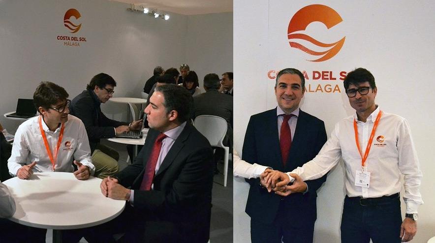 José González Rojas, propietario de XTerra Spain, con Elías Bendodo, presidente de la Diputación de Málaga, que firmó un contrato de patrocinio a nombre de una empresa que no existía en el Registro Mercantil.