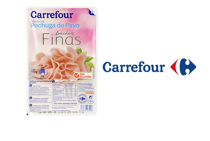 Alerta de retirada de un lote de pechuga de pavo reducido en sal de Carrefour por tener soja no declarada