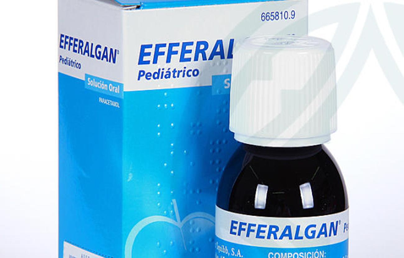 Ordenan la retirada del mercado de siete lotes del medicamento Efferalgan Pediátrico en solución oral