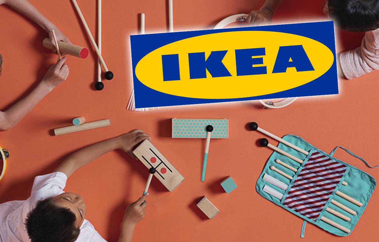 Alerta de retirada del mercado del tambor de madera y juego de baquetas Lattjo vendidos por Ikea