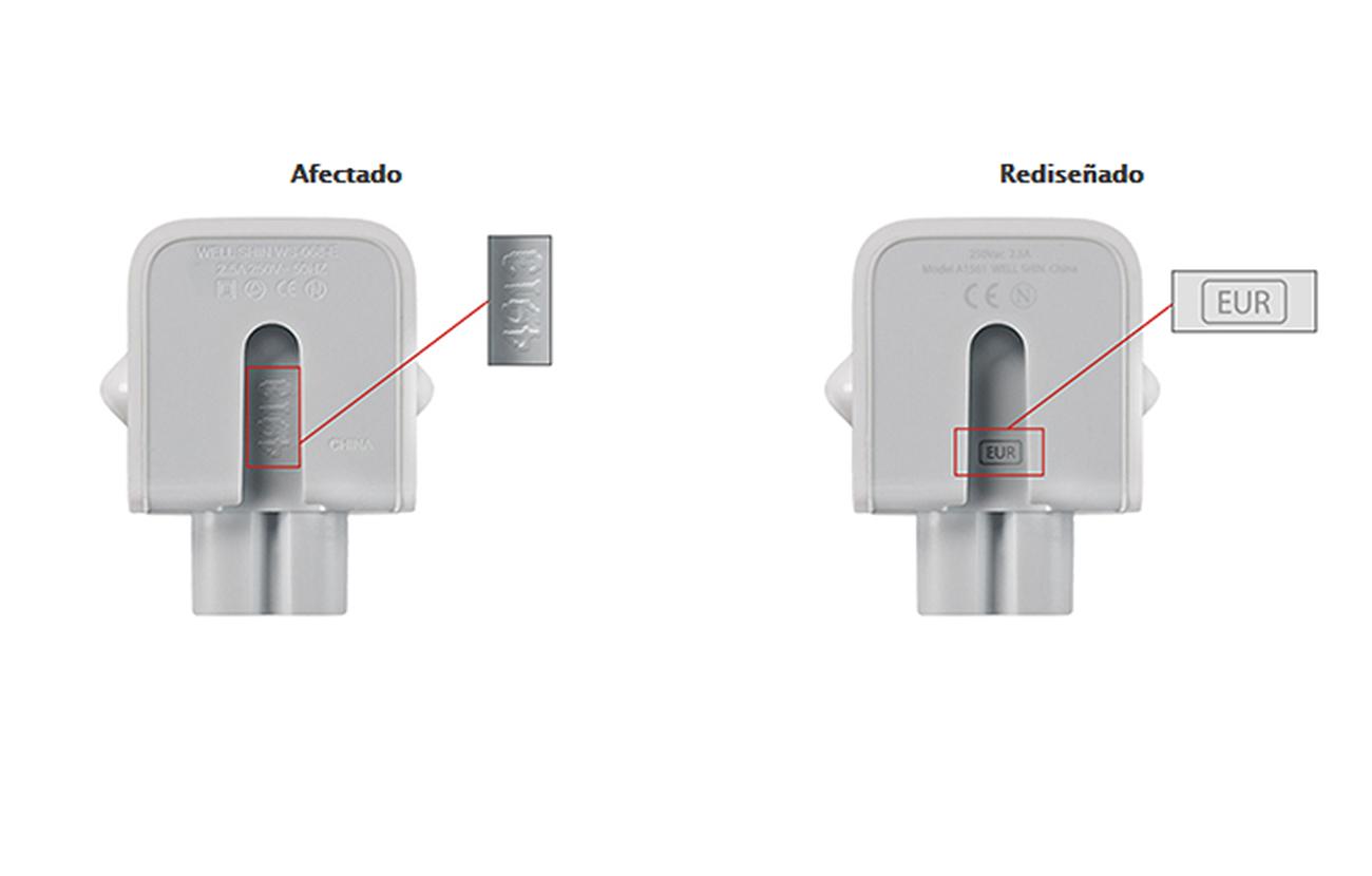 Apple retira unos adaptadores de enchufe en Europa continental y otros pa�ses porque dan calambre