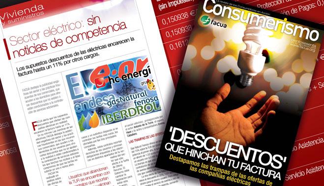 'Descuentos' que hinchan tu factura: FACUA destapa en su revista las trampas de las eléctricas