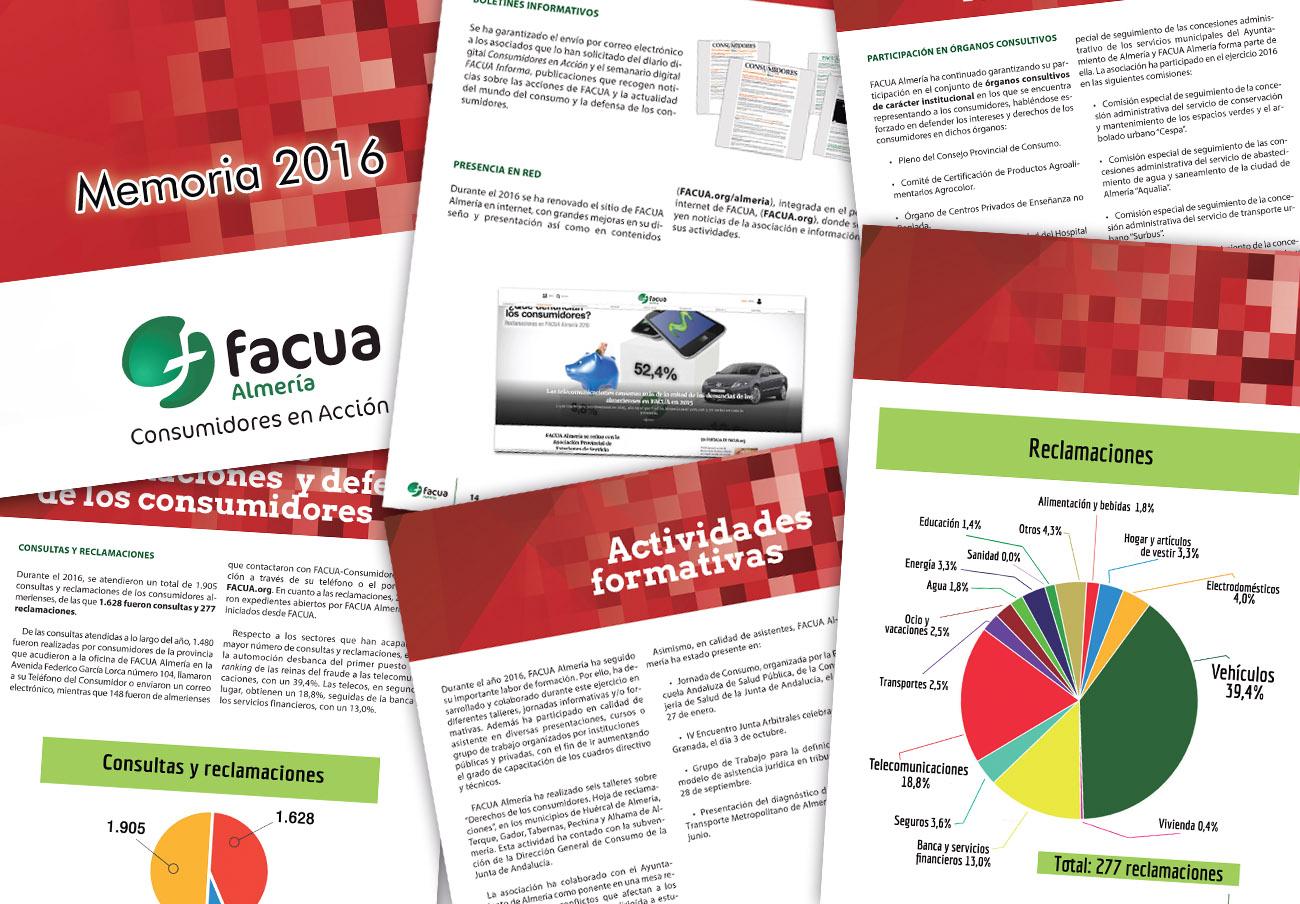 FACUA Almería publica su 'Memoria 2016'