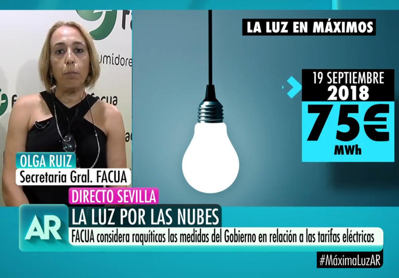 """Olga Ruiz: """"La medida del Gobierno para bajar la factura de la luz es raquítica"""""""