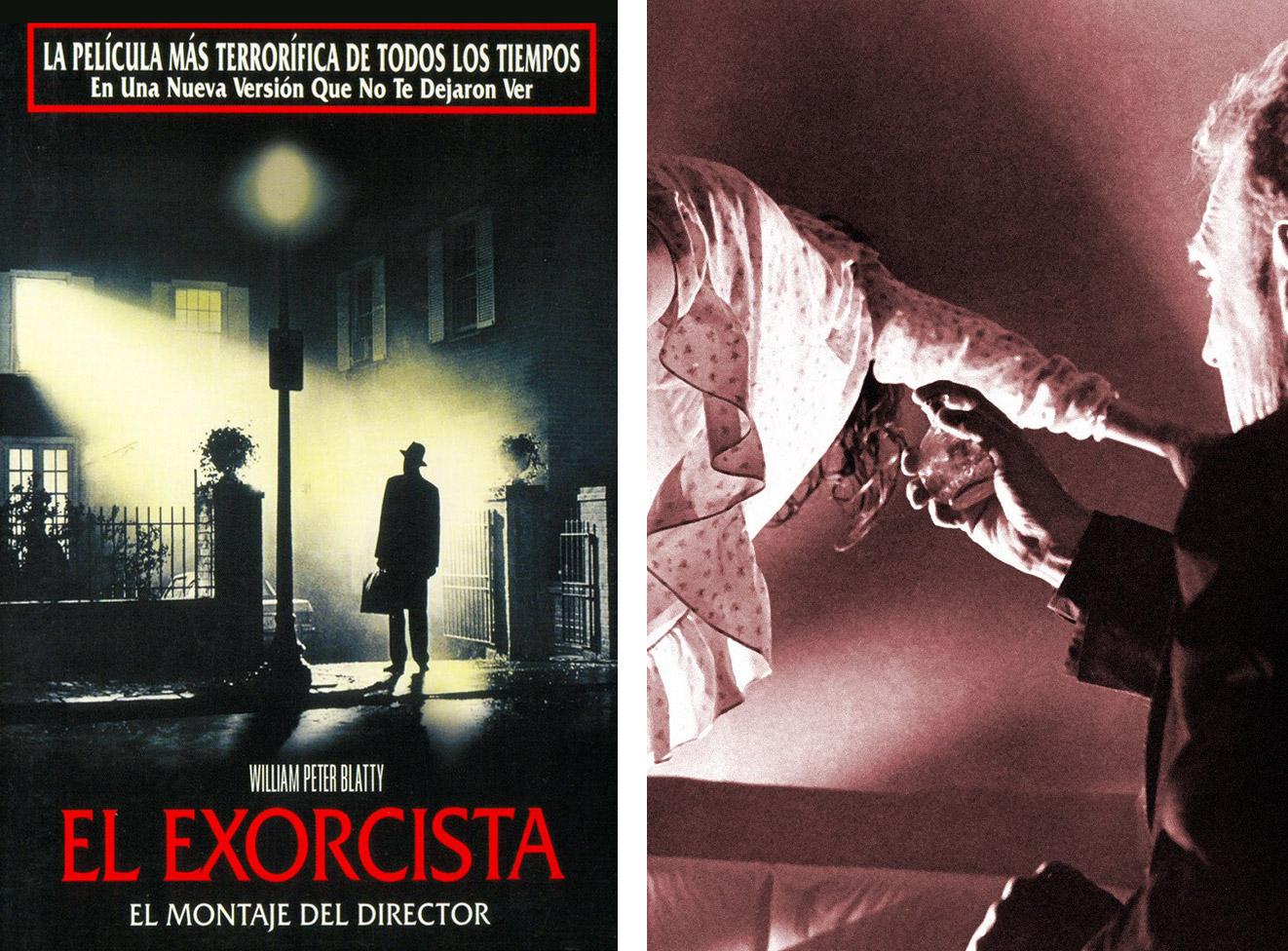 Cartel de 'El exorcista: El montaje del director' junto a un fotograma de la película. | Imágenes: Warner Bros.