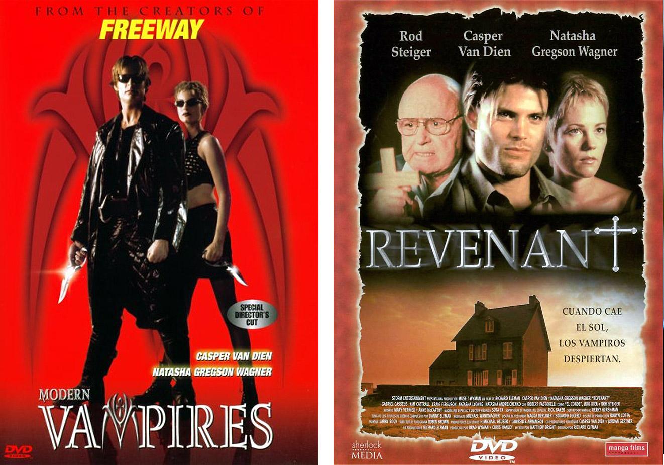 Dos de los carteles lanzados en EEUU y en España de 'Revenant. Vampiros modernos'. | Imagen: Lionsgate Films.